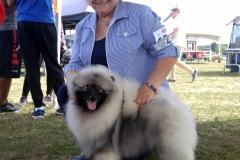 Kars dog show Brenda Brookes and Nova