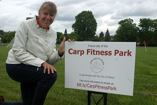 Join the CHA March 28 for a fundraiser for the Carp Fitness Park. Photo by Jake Davies