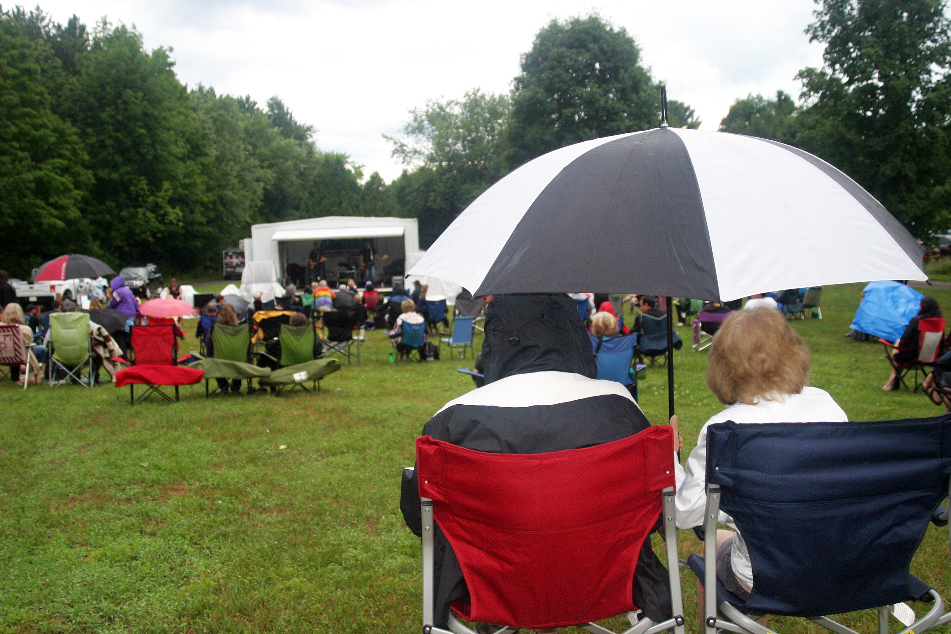 Wet weather didn't stop fans from taking in Ambush at the last Concert in the Park at Fitzroy Provincial Park. Photo by Jake Davies