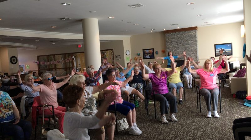 Kanata Senior Council members participate in one of the organization's fitness programs. Photo submitted