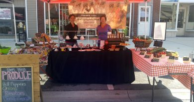 Limestone Acres' Amanda Gillespie and mom Carol Veenstra at the Arnprior Sunday Market on Aug. 26. Photo by Jake Davies