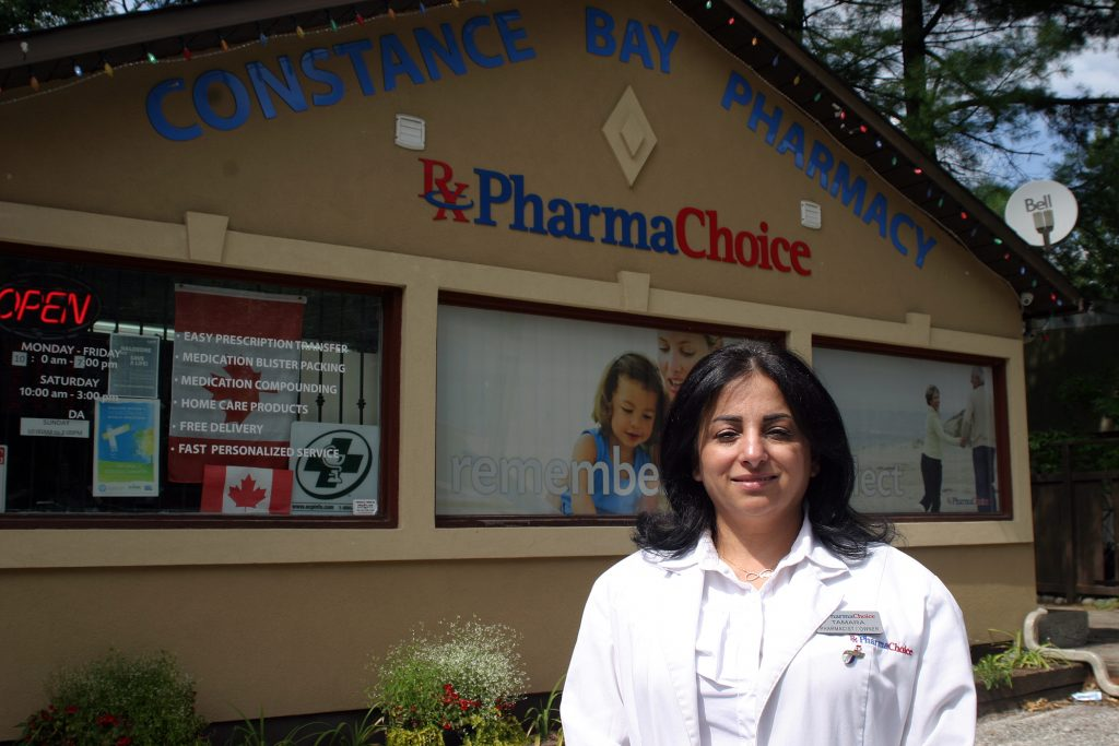 Pharmacy owner Tamara Awada says she has been preparing for the pandemic since before COVID-19 reached Canada.. Photo by Jake Davies