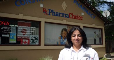 Pharmacist Tamara Awada aims to provide more than just medication at the Constance Bay Pharmacy. Photo by Jake Davies