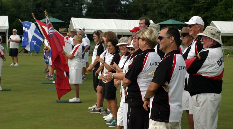 The opening ceremonies for the 90th Governor General's Cup hosted by the Galetta Lawn Bowling Club last Saturday. Photo by Jake Davies