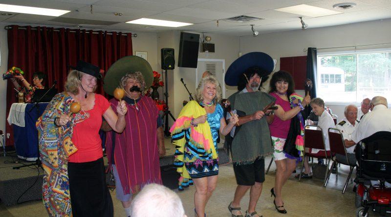 Legion members and MP Karen McCrimmon entertain Perley Rideau Veterans' Hospital guests last July. Photo by Jake Davies