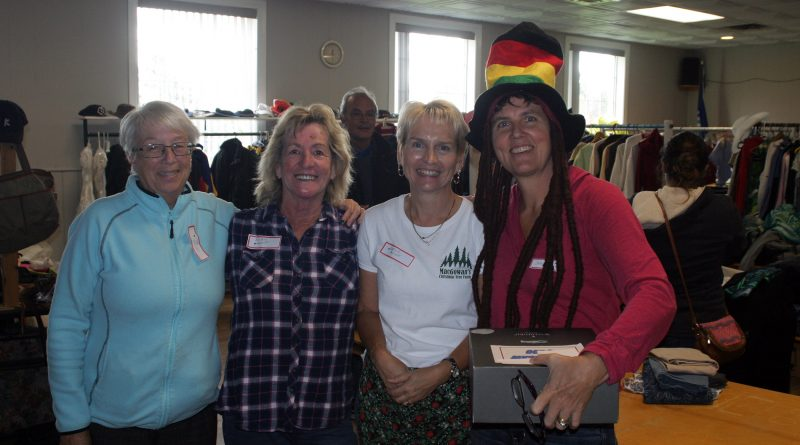 From left, Galetta Community Association President Sandra Fletcher and volunteers Barbara Jowett, Marsha McGowan and Janice King are hard at work Oct. 20. Photo by Jake Davies