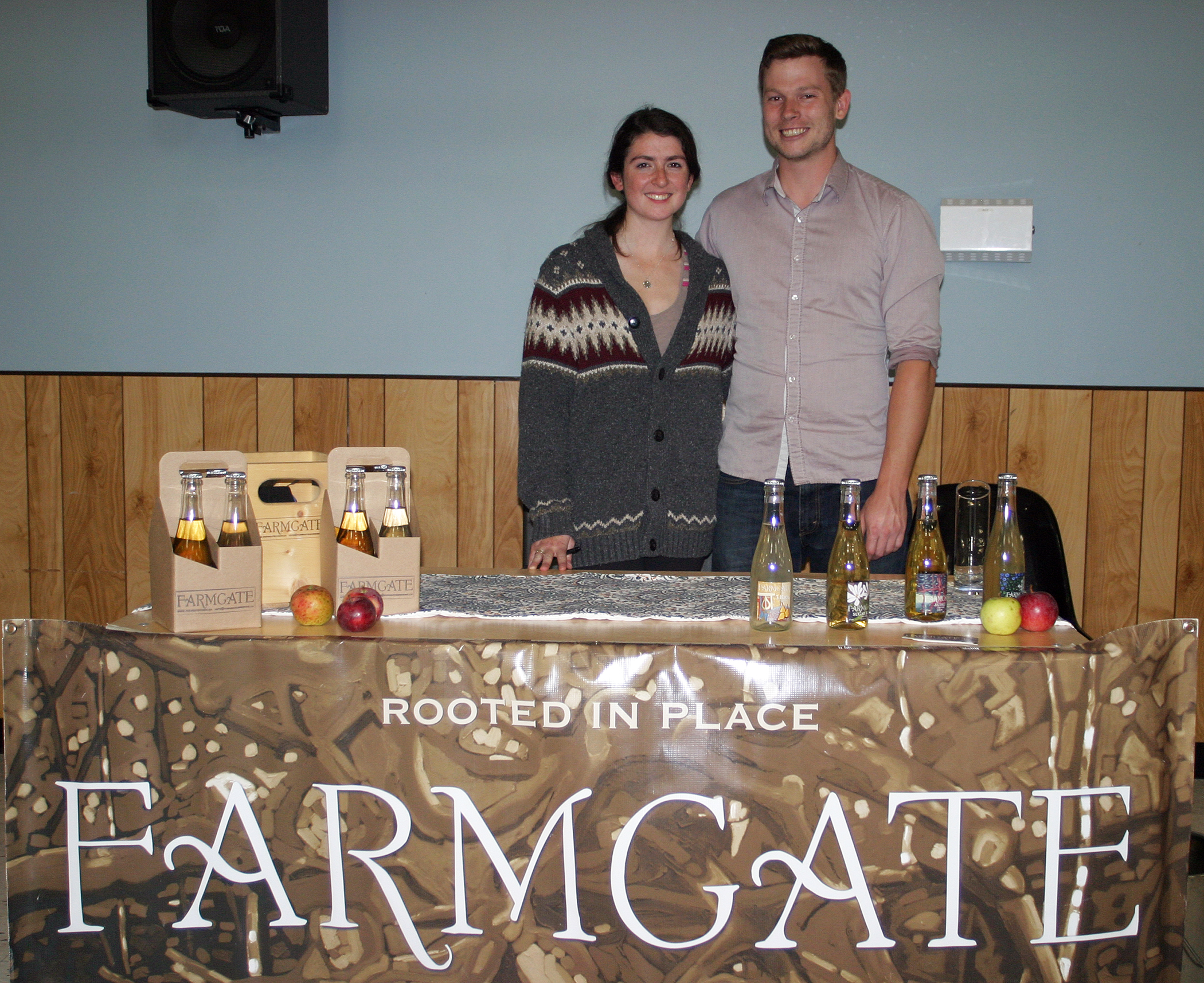 Jacob Davies and  Megan Dalby of Farmgate Cider shared their tasty beverage at last Saturday's Holy Hops Brewfest. Photo by Jake Davies