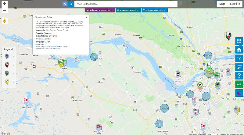 Don't let the location fool you. While our office is in Arnprior, you can always find us in West Carleton. (Local News Map screencap)