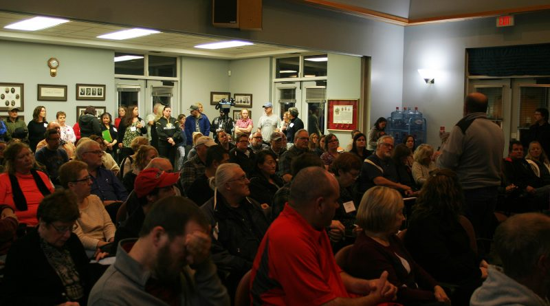 A full house of more than 120 people attended the latest Affected Residents Meeting in Kinburn. Photo by Jake Davies