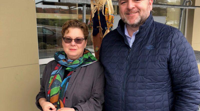 WCDR's Angela Bernhardt and Ottawa Food Bank CEO Michael Maidment . Photo courtest Ottawa Food Bank