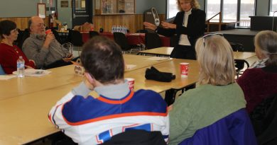 MP Karen McCrimmon met with several constituents during a town hall meeting in Fitzroy Harbour last weekend. Photo submitted