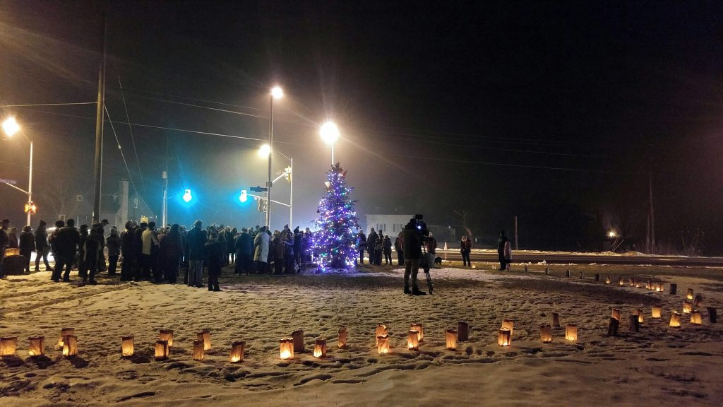 More than 100 people attended the Dunrobin Christmas Tree Lighting in 2018. Photo by Jake Davies