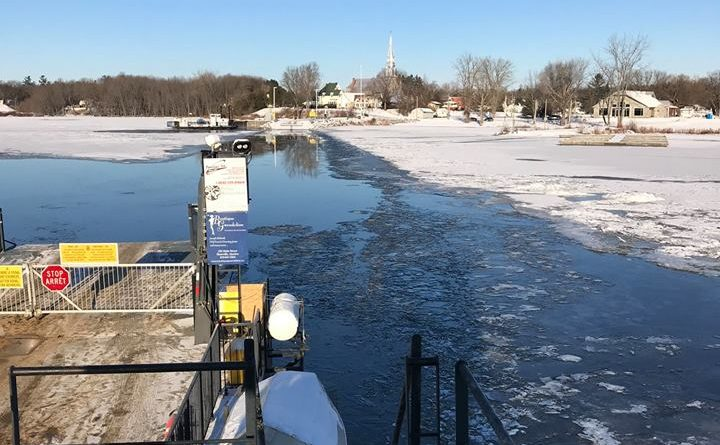 The view from the Quyon Ferry on Dec. 10. Photo courtesy Facebook