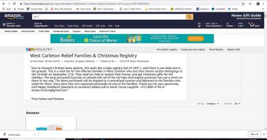 The home page to the WCDR amazon.ca gift registry looks like this. Screencap