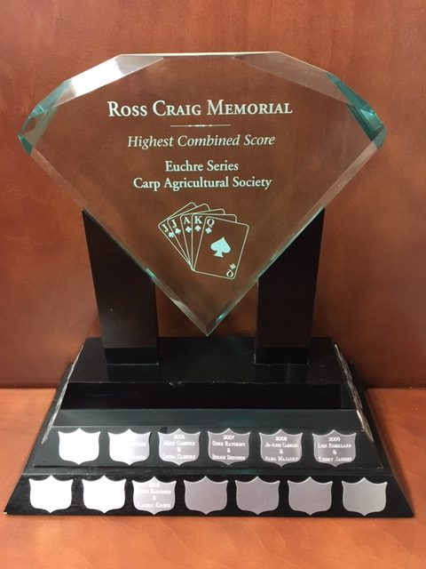 The Ross Craig Memorial Trophy. Photo courtesy The Carp Fair