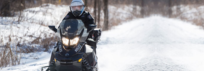The OPS took the RIDE program to the snowmobile trails last Friday. Photo courtesy OPS