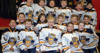 In the front row, from left to right are Cabrel Seguin, Filip Spelliscy, Olli Drolet, Chase Heuchert and Cole Neil. In the middle are Jacob Reinke, Charles Bedard, Michael Gilmour, Kolton Lessard and Lucas Lacharity. In the back are Everest Dolter, Landon Dods, William Sly, Sheldon Casey, Wyatt McNeely and Chase Burns. Photo by Jake Davies
