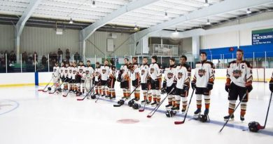 It was the Inferno's best weekend in it's short history as the team went 1-0-1 to collect three of four points in the NCJHL. Photo courtesy the Inferno