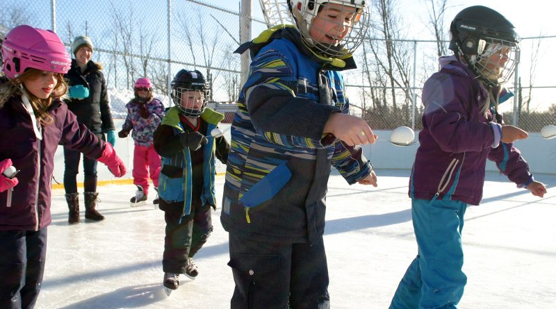 It was a beautiful day and Dunrobin kids had a great time hitting the ice with their skates and eggs (?) at the winter carnival yesterday. Photo by Jake Davies