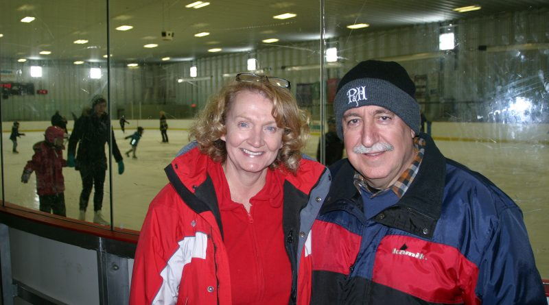 Coun. Eli El-Chantiry says he has worked with MP Karen McCrimmon often before and looks forwad to it again after last Monday's election. The two are photorgaphed here hosting a Family Day Skate in Kinburn. Photo by Jake Davies