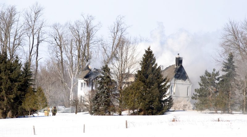The Greenland home was destroyed by this morning's fire leaving five people displaced. Photo by Jake Davies