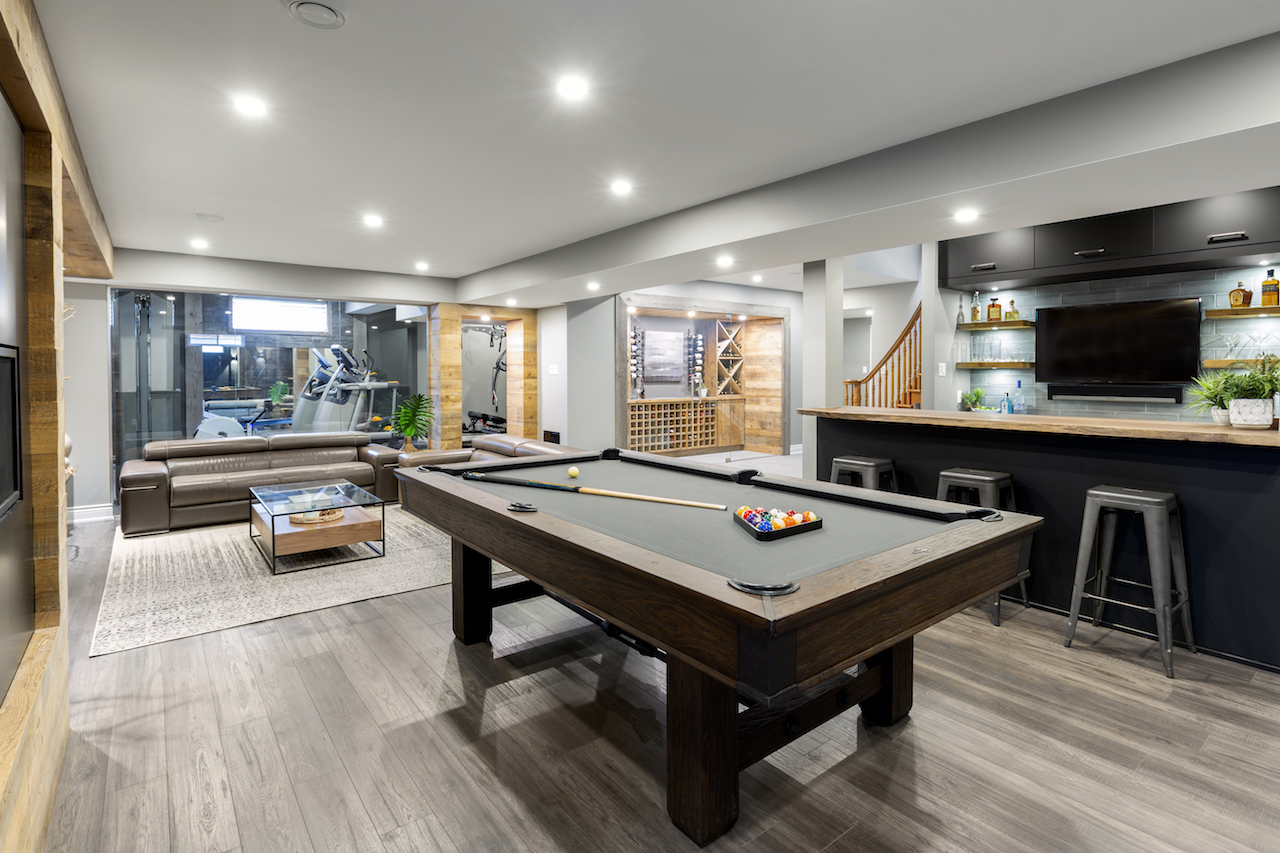 From basement to show piece. Photo courtesy Just Basements
