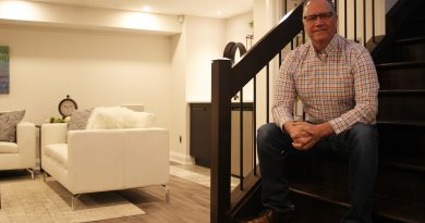 ARTium Design Build Inc. and Just Basements owner Norm Lecuyer in his office's show basement. Photo by Jake Davies