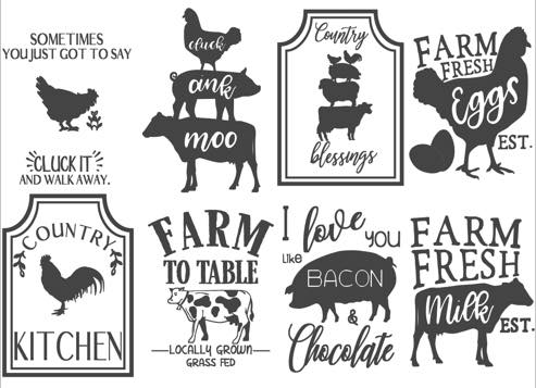 Some of the stencils you can choose from. Courtesy KCA