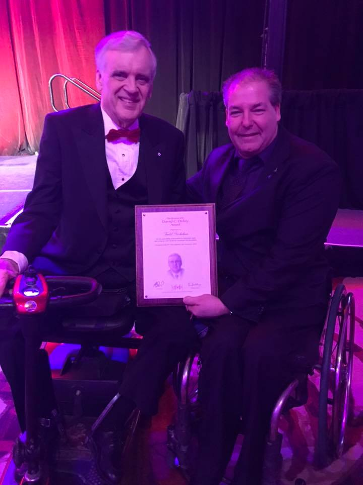 Todd Nicholson poses with the 28th Lieutenant Governor of Ontario, the Honourable David C. Onley. Courtesy Facebook