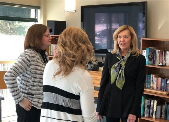 Health Minister Christine Elliot dropped by Arnprior Regional Health March 8. Photo courtesy Oldies 107.7 FM
