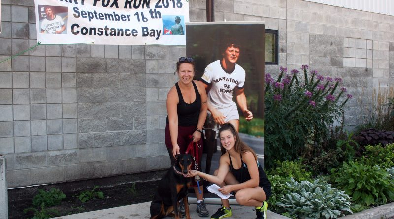 Mila Dolezalova and her daughter Jasmine Larente, photographed at last year's West Carleton Terry Fox Run, are taking over organizing duties for this year's event. Courtesy Bob and Linda