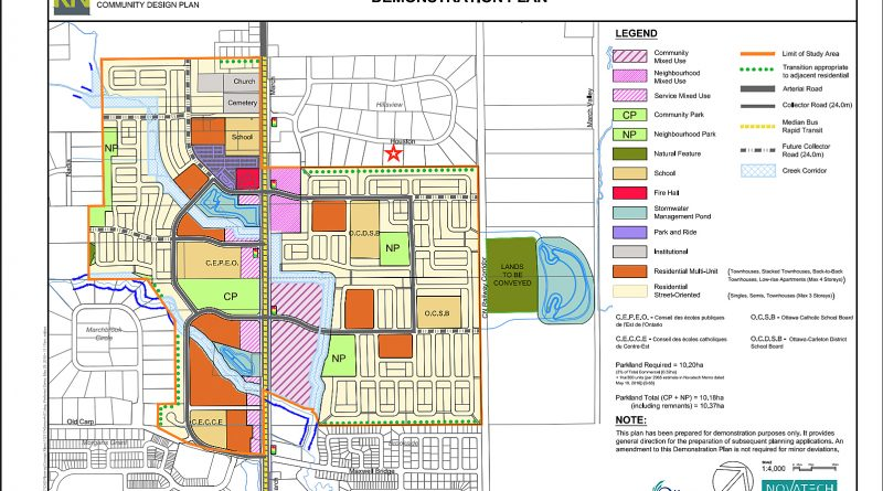 This 2016 Kanata North Community Design Plan shows the proposed area for development.