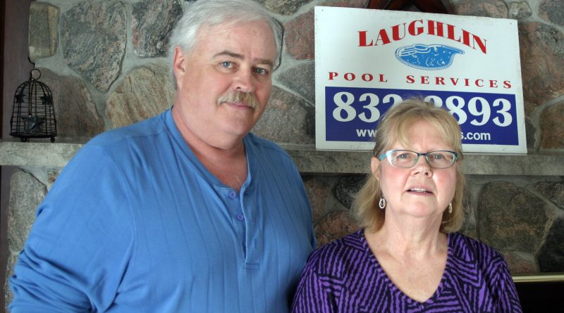 Steven and Jane Laughlin are getting ready for the swim season. Photo by Jake Davies