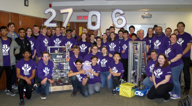 The Merge Robotics team is ready for competition. Photo by Jake Davies