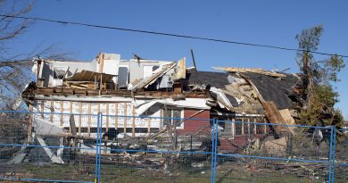 Thiry-four homes were damaged by the Sept. 21 tornado. Twenty-four need to be demolished or completely renovated. Photo by Jake Davies