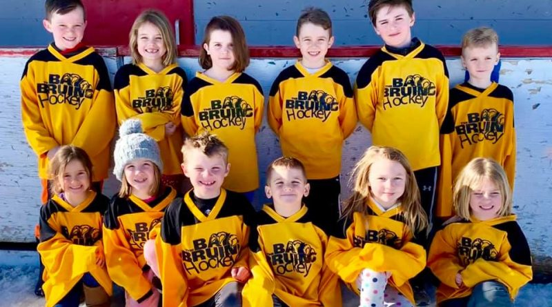 WCOHL five to seven-year-olds pose for a photo at the end of season tournament held last Satruday. Courtesy WCOHL