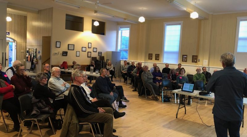 Around 40 people attended the April 3 Friends of the Carp Hills AGM. Photo by Josee LeBlanc
