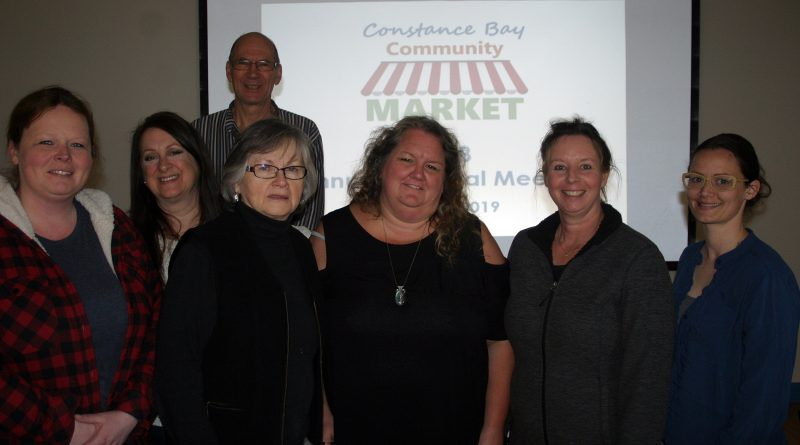 From left, CBCM board members Amanda Chapman, Sylvia Bell (non-voting), Mike Gordon, Suzanne Lee, Melanie Paquette, Jenette Edwards and Amanda Gillespie pose for a photo following the AGM on April 13. Photo by Jake Davies