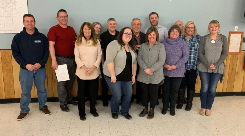 The FHCA and Coun. Eli El-Chantiry pose for a photo after the AGM. In the back row, from left, are Sean Ovington, Colin Ovington, Tricia Peever, Mark D'Arcy, Coun. El-Chantiry, Adam Brown, Fred Gillard, Laurie Hall and Jackie Port. In the front row are Karen Taylor, Sarah Wilson, Leigh Ann Kyte and Wendy Mayhew. Missing: Kelly Roper. Courtesy FHCA