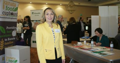 Dr. Rouba Fattal, chair and founder of the KCSBN, poses on the floor of the fourth annual small business fair. Photo by Jake Davies
