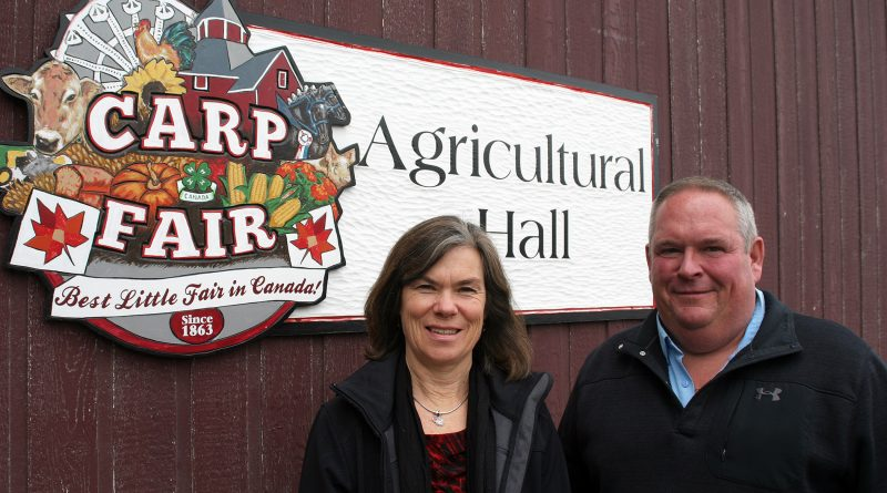From left, Carp Fair President of Homecraft Martha Palmer and President of Agriculture Doug Norton share their memories and their upcoming favourites as the 156th Carp Fair kicks off Thursday. Photo by Jake Davies