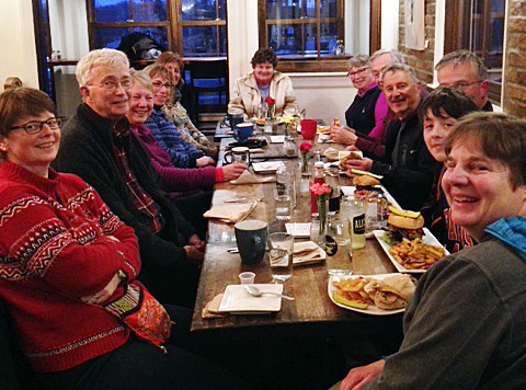 The Diefenbooker Walkers Clinic celebrate their tenacity and readiness for this Saturday's race. Courtesy Kathy Fischer