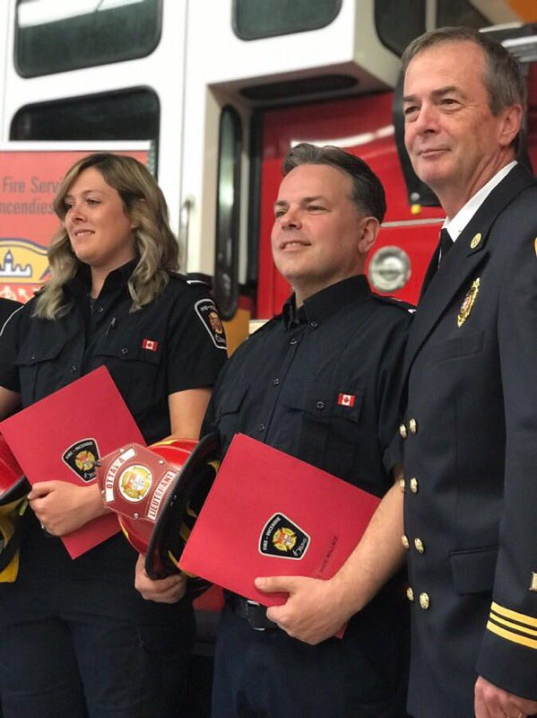 From left, lieutenants Stephanie Clarke and Wade Wallace with district Chief Bill Bell. Courtesy Bill Bell
