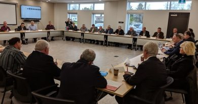 Politicians and river operators met for the first of provincial flood task force meetings today. Courtesy Oldies 107.7 FM