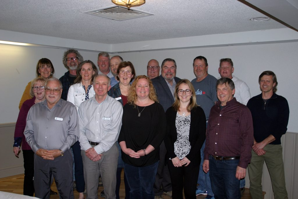 The 2019 Huntley Community Association board poses for a photo after the May 9 annual general meeting. Photo by Jake Davies