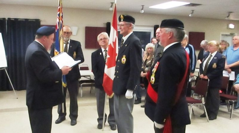 George Dolan is installed as president of Branch 616 by members of the Kanata Legion last Monday evening. Courtesy Branch 616
