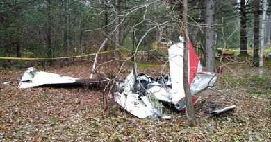 Remains of the Cessna following the Nov. 4 mid-air collision over Carp. Courtesy the Tranportation Safety Board of Canada