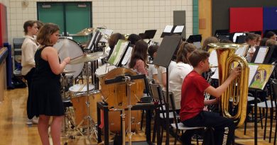 The Stonecrest Elementary School Junior Band performs at the school's spring concert last week. Photo by Jake Davies
