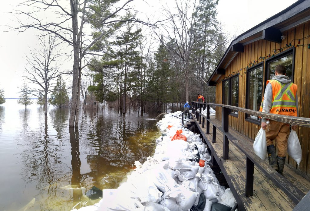 Last spring's record-destroying flooding of the Ottawa River topped this year's Top 10 Canadian weather stories. Photo by Jake Davies