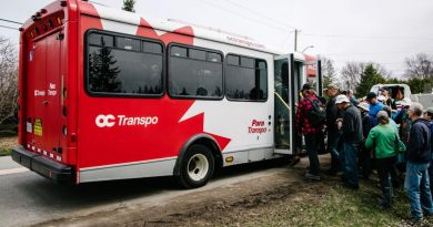 Volunteer OC Transpo drivers worked 12-hour shifts supporting voluntters. Courtesy OC Transpo